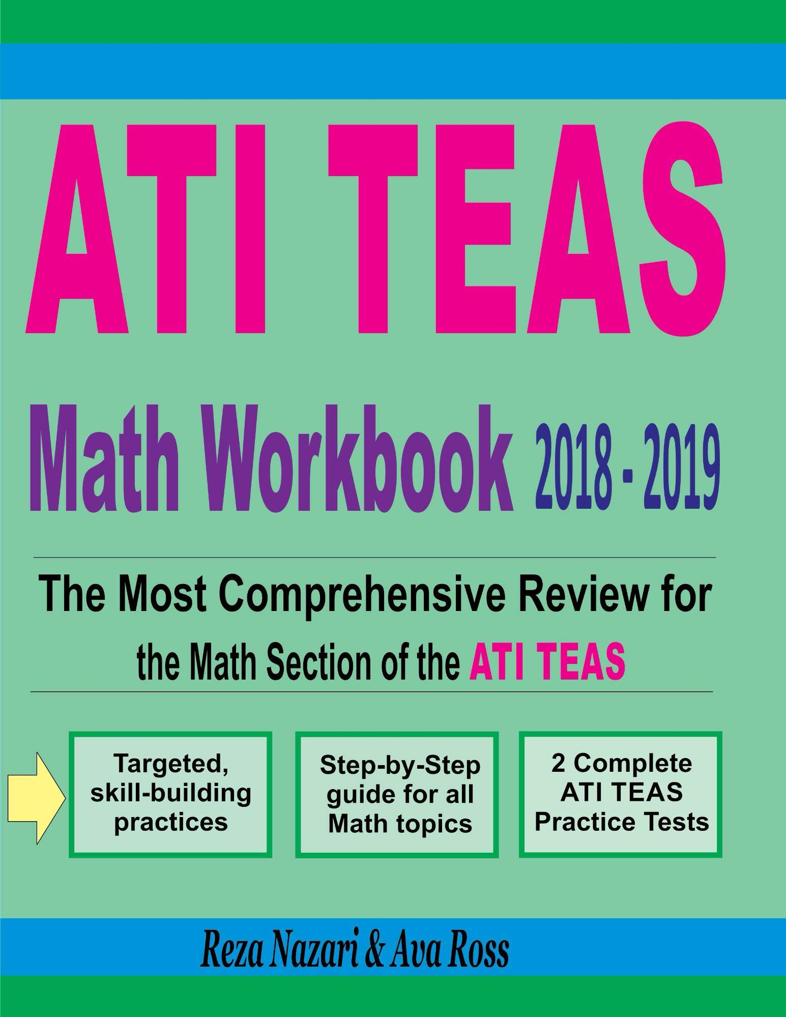 ATI TEAS Math Workbook 2018 - 2019: The Most Comprehensive Review ...