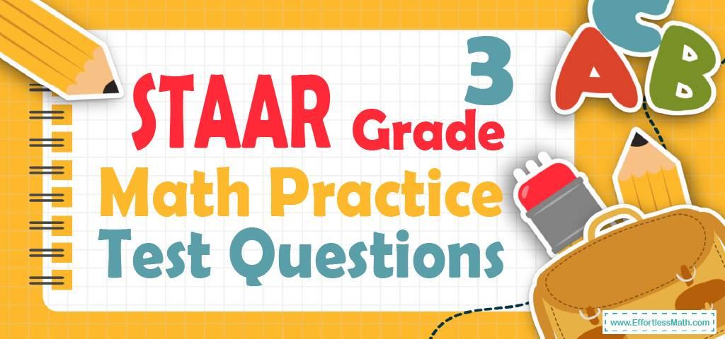 3rd Grade STAAR Math Practice Test Questions